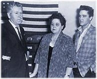 Elvis Presley pictures with parents