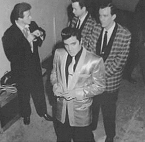 Elvis Presley picture with performers backstage