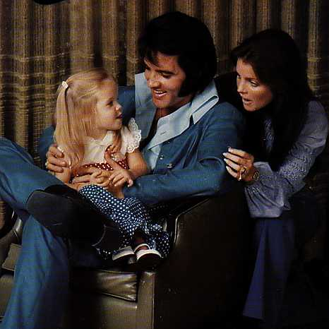 Elvis Presley pictures with Priscilla and Lisa Marie