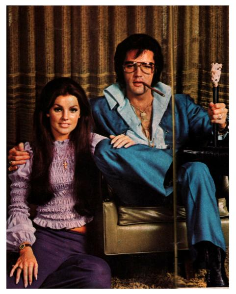 Elvis Presley pictures with Priscilla 1970s