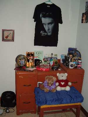Saras Room of Devotion to Elvis