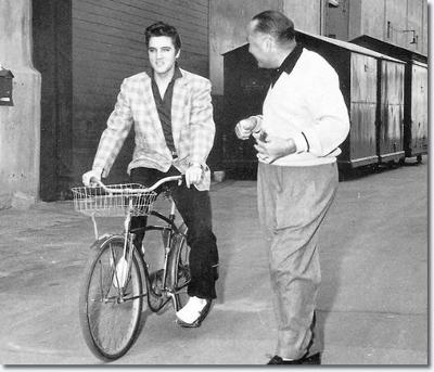 Elvis with Hal Wallis (Jeff Schrembs Collection)
