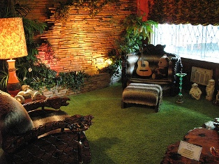 Elvis Presley picture of the jungle room